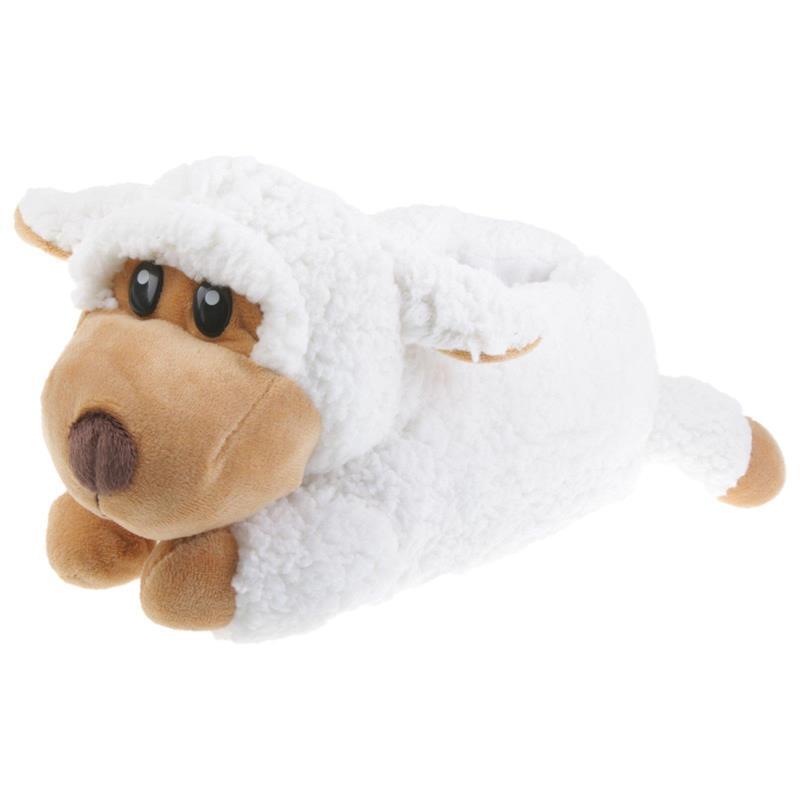 Tierhausschuhe Kinder Hausschuhe Schaf, Weiß