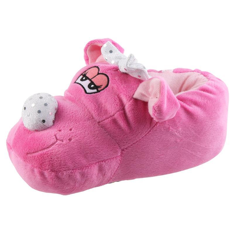Tierhausschuhe Kinder Hausschuhe Hund Mit Schleifchen, Pink