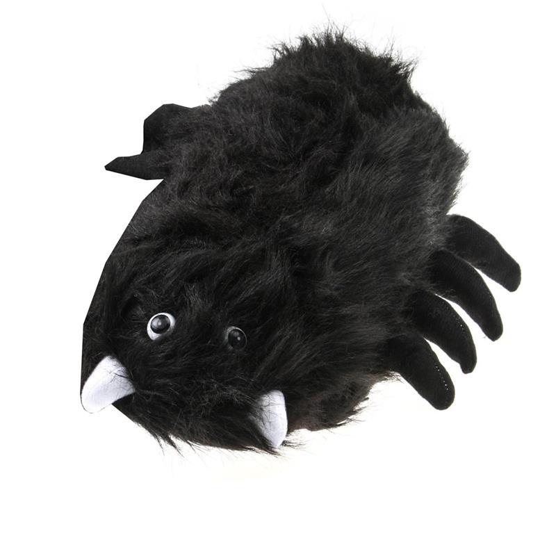 SAMs Tierhausschuhe Spinne, Schwarz