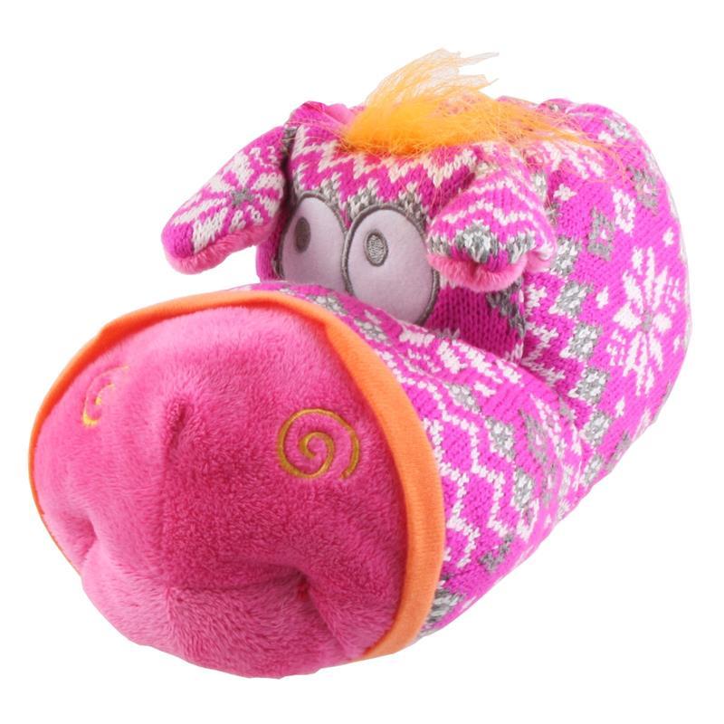 Tierhausschuhe Kinder Hausschuhe Strick Elch, Pink