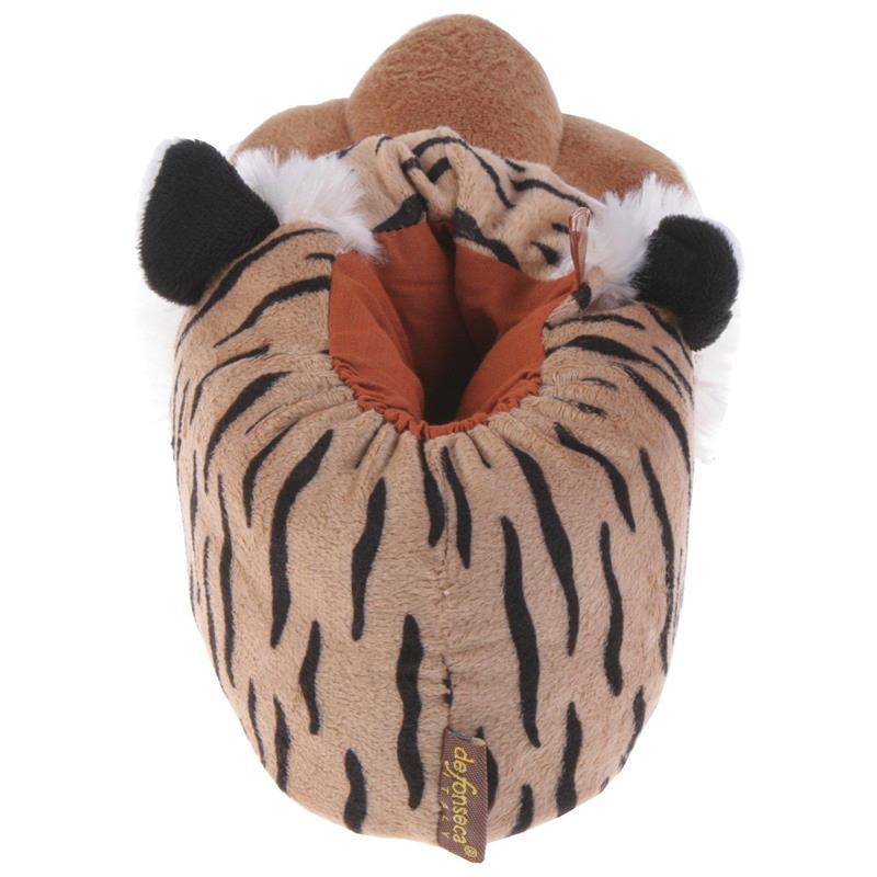 Tierhausschuhe Hausschuhe Tiger, Beige