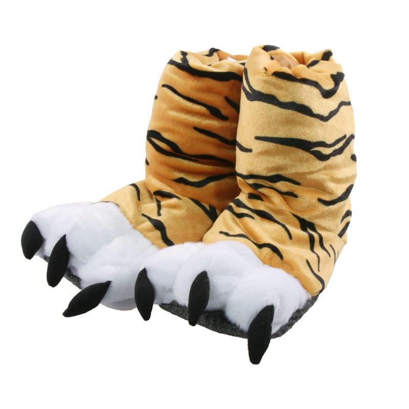 Tierhausschuhe Kinder Hausschuhe Tiger Boot, Orange