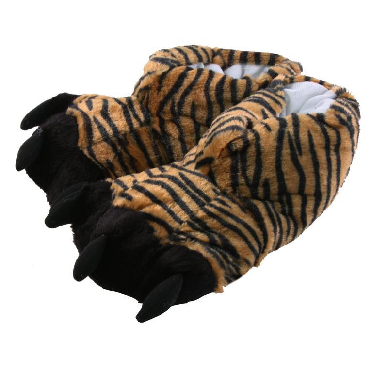 Tierhausschuhe Hausschuhe Tiger, Schwarz