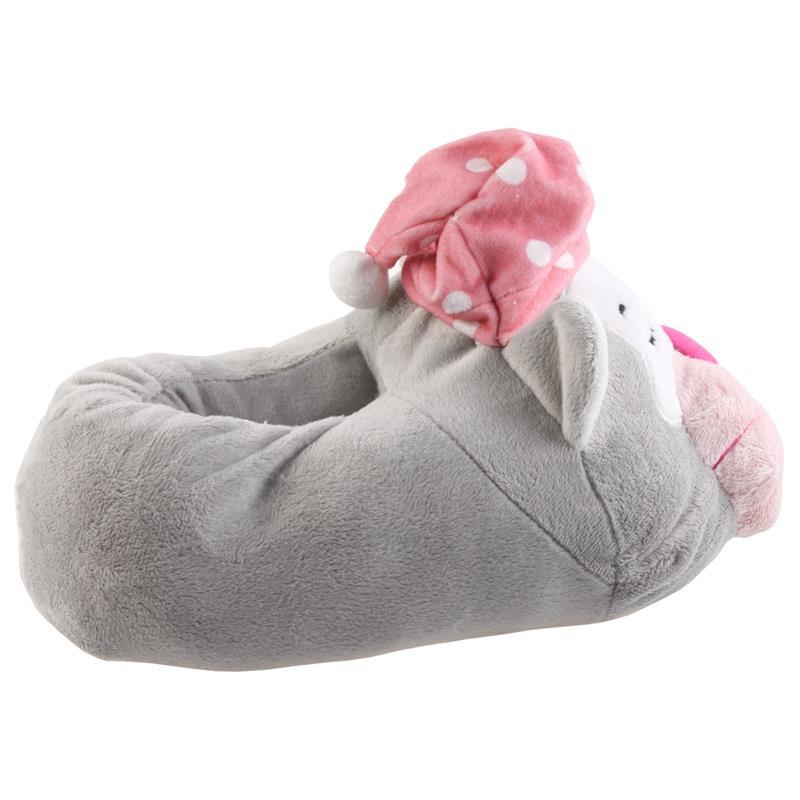 Tierhausschuhe Damen Hausschuhe Katze, Grau