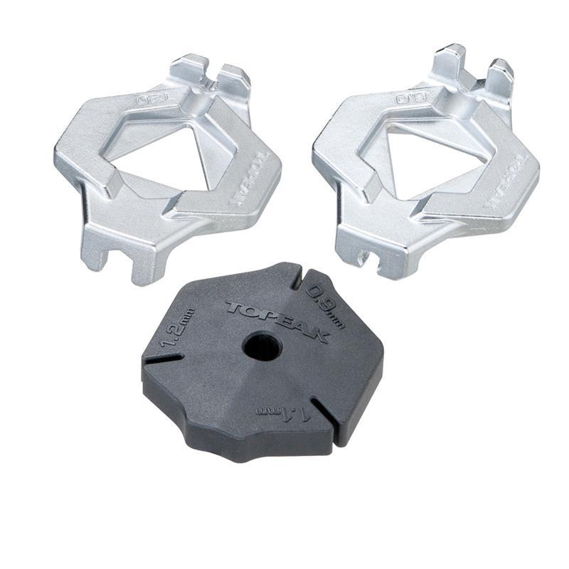 Topeak Stahlspeichen-Tool Duo Spoke Wrench Kompatibel mit DT Campagnolo Speichen, Schwarz