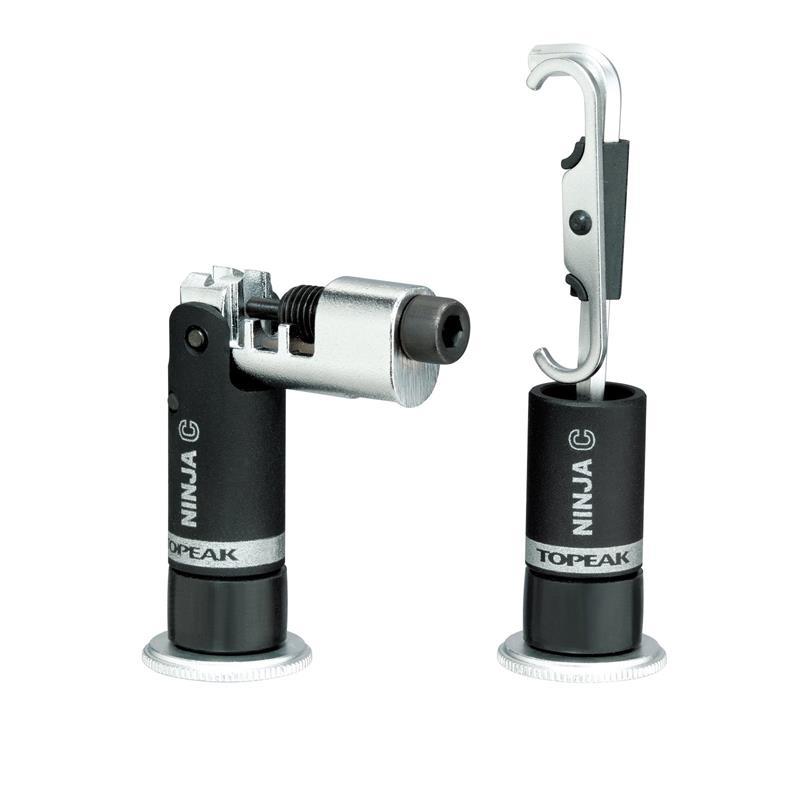 Topeak Miniwerkzeug Ninja C Kettennieter Kompatibel mit Ninja Cage Flaschenhaltern, Schwarz