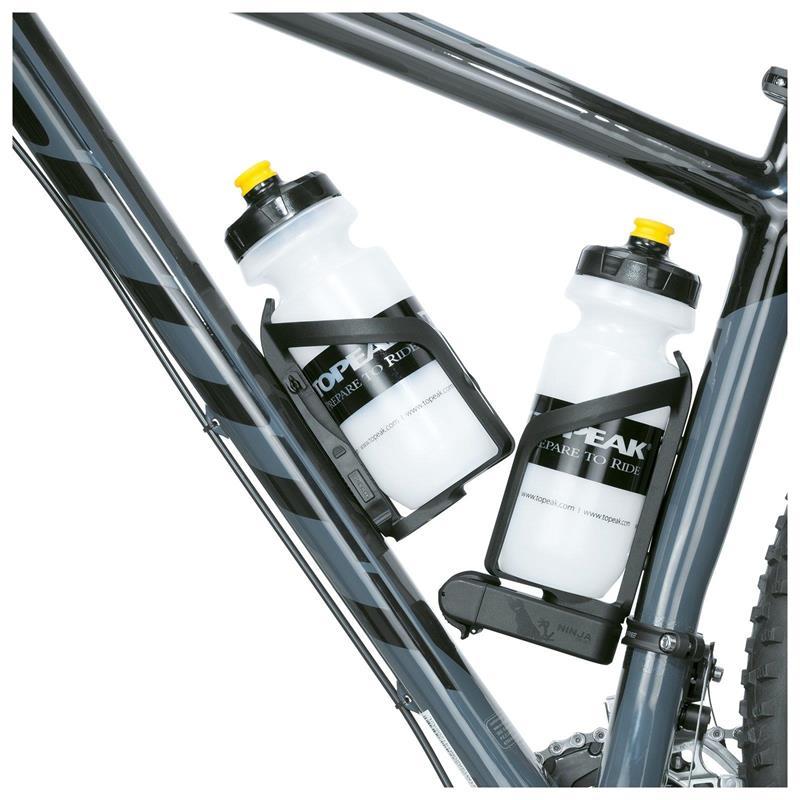 Topeak Flaschenhalter Tragesystem & Reifenheber Ninja Cage Plus, Schwarz