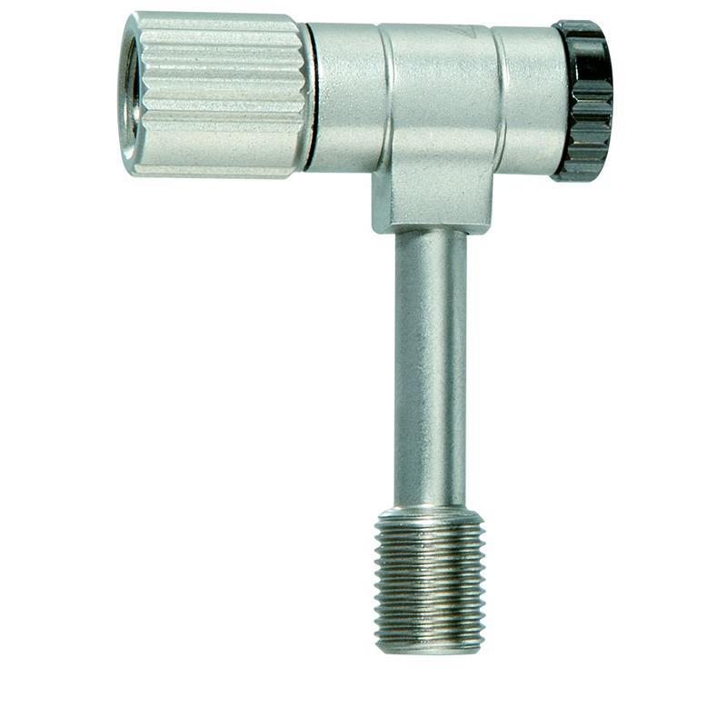 Topeak Ventiladapter Pressure-Rite Shock, Silber