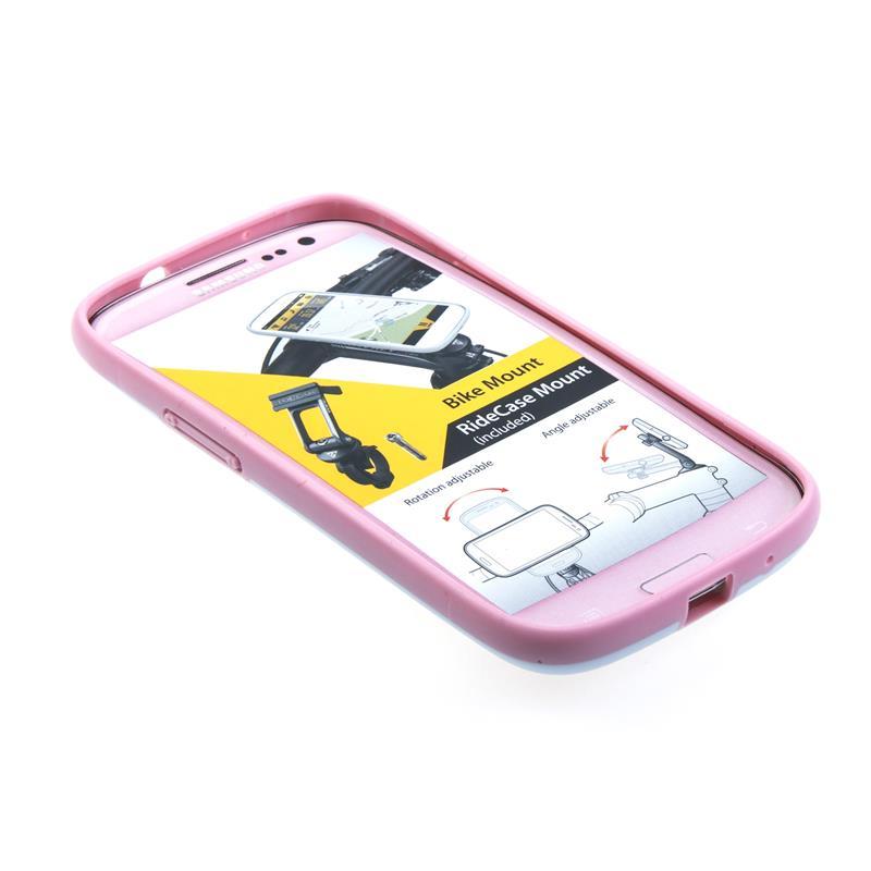 Topeak Handyhülle & Halterung Ride Case Kompatibel mit Samsung Galaxy S4, Pink