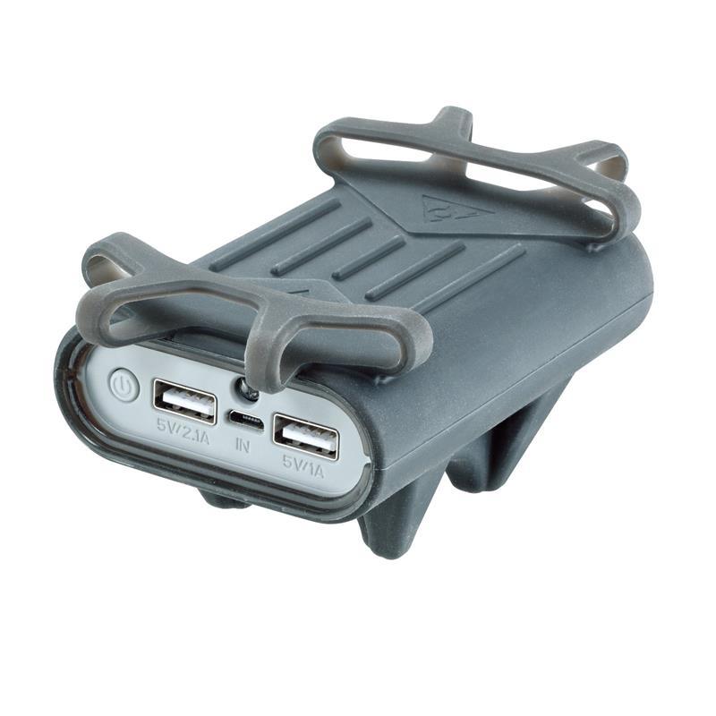 Topeak Smartphonehalterung mit PowerPack Akku, Grau
