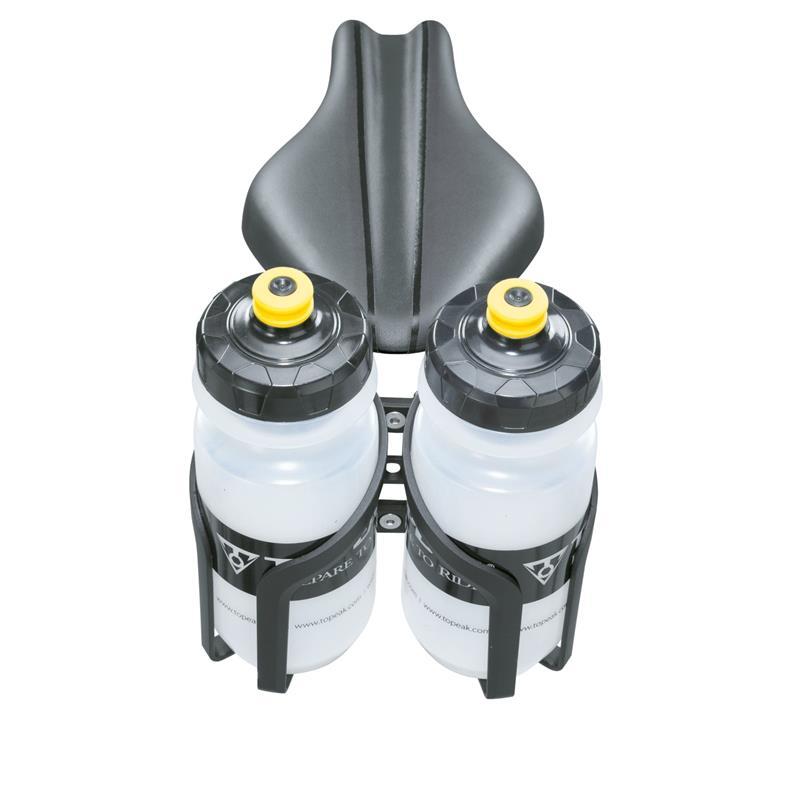 Topeak Flaschenhalter-Befestigung Tri-BackUp Pro I / V, Schwarz