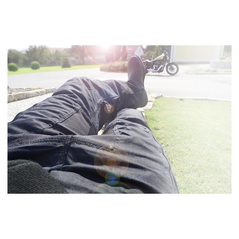 Trilobite Herren Motorradhose Consapho Kevlar, Schwarz