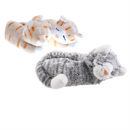 Katze Tier Hausschuhe Pantoffel Puschen Schlappen Kuscheltier Plüsch Damen Kinder 30-41