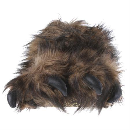 Big Foot Monster Kralle Tier Hausschuhe Pantoffel Schlappen Kuscheltier Plüsch Herren Braun 36-47 Pic:4