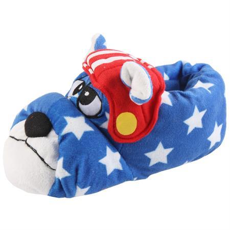Bulldogge Football Hund Tier Hausschuhe Pantoffel SchlappenKuscheltier PlüschHerren Blau 27-46