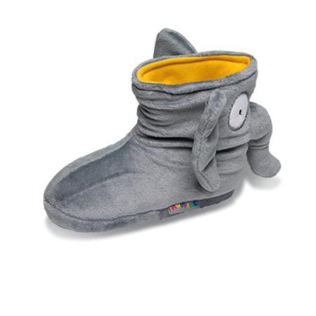 Elefant Tier Hausschuhe Boots Pantoffel Puschen Schlappen Kuscheltier Plüsch Kinder Grau 29-35