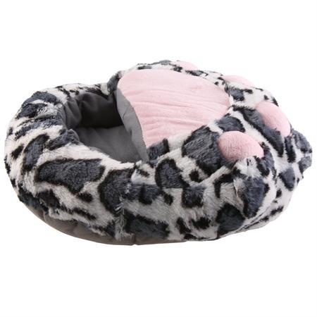SAMs Damen Fußwärmer Hausschuhe Katze, Grau Pic:1
