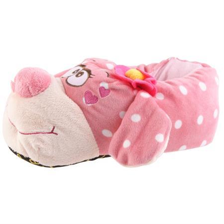 Verliebter Hund Tier Hausschuhe Pantoffel Puschen Schlappen Kuscheltier Plüsch Damen Pink 35-39