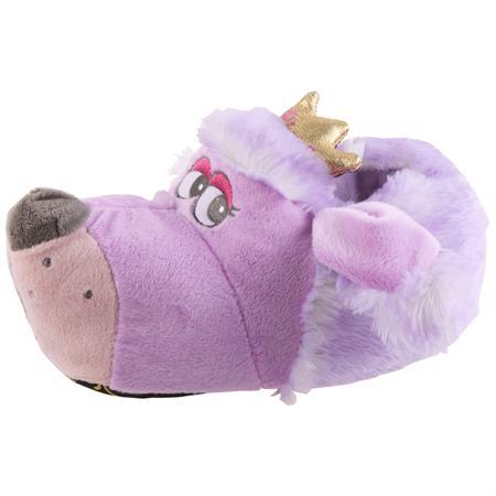 Prinzessinen Hund Tier Hausschuhe Pantoffel SchlappenKuscheltier PlüschMädchen Lila 27-41