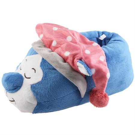 Schlafmütze Katze Tier Hausschuhe Pantoffel SchlappenKuscheltier PlüschMädchen Blau 27-41