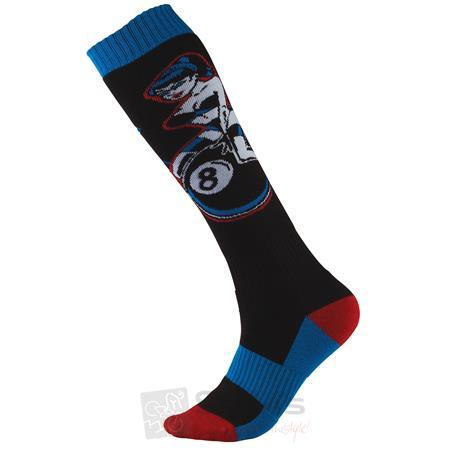 O'Neal Pro MX Socken PINUP Schwarz Blau Rot