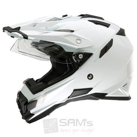 O'Neal Sierra Adventure Motorrad Enduro Helm Weiß
