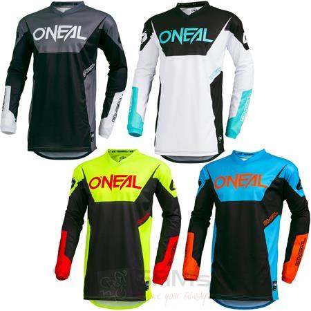 Farbe Wei/ß 001E ONeal Element Racewear Motocross Jersey MX Enduro Gel/ände Cross Trikot DH FR Motorrad Gr/ö/ße M