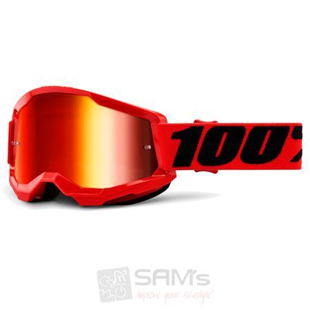 100/% Crossbrille Strata 2 Verspiegelt Motocross Mountainbike DH MTB Helm Brille