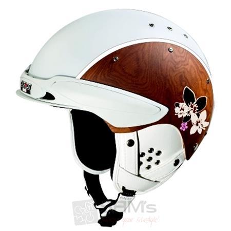 CASCO SP-3 Edelholz Chalet Leo Weiss Ski Helm