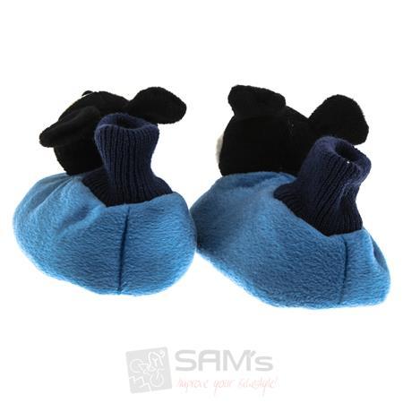 SAMs Kinder Hausschuhe Micky Maus, Blau Pic:1