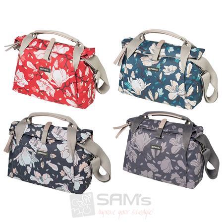 basil city bag magnolia handtasche 7 l fahrrad damen schulter lenker tasche rad ebay. Black Bedroom Furniture Sets. Home Design Ideas