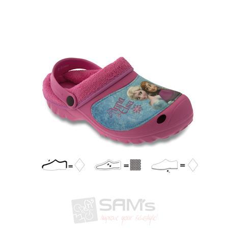 SAMs Kinder Hausschuhe Disney Frozen Eiskönigin Völlig unverfroren, Rosa Pic:1