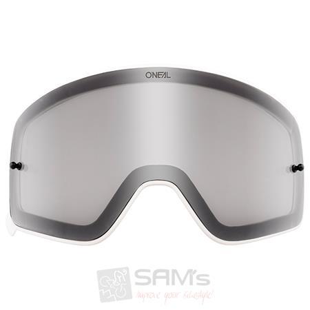 6020-9 Farbe Radium Rot ONeal Ersatz Magnet Scheibe B-50 Wei/ß Goggle Anti Beschlag Polycarbonat MX Kratzfest Brille