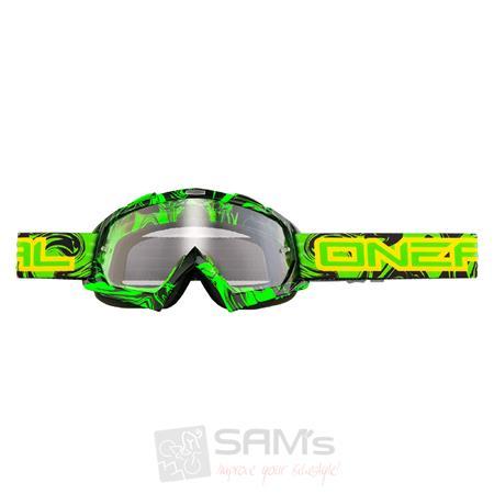 O'Neal B-Flex Goggle MX HENDRIX Schwarz Grün