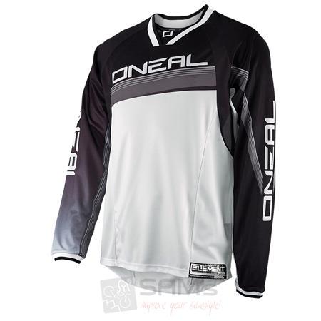 O'Neal Element FR langarm Jersey Schwarz Weiß