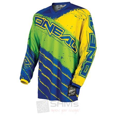 O'Neal Mayhem MX Jersey REVOLT Blau Grün