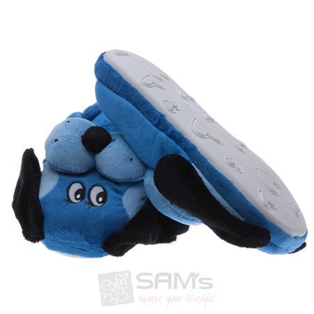 SAMs Kinder Tierhausschuhe Hund, Blau Pic:1