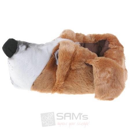 Tierhausschuhe Herren Hausschuhe Basset Hound Hund, Braun Pic:1