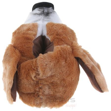 Tierhausschuhe Herren Hausschuhe Basset Hound Hund, Braun Pic:2