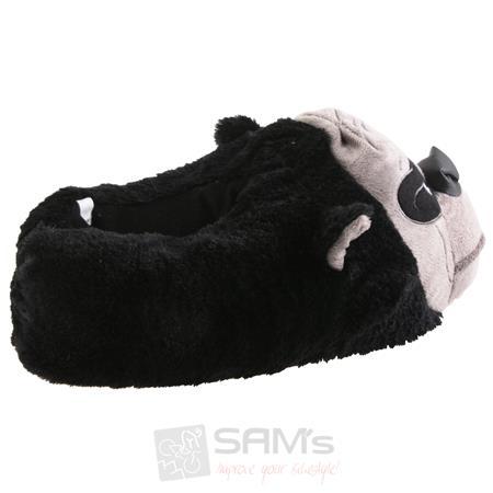 Tierhausschuhe Herren Hausschuhe Gorilla, Schwarz Pic:1