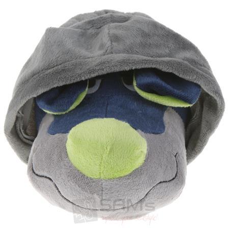Tierhausschuhe Unisex Hausschuhe Hoodie Hund, Grau Blau Pic:3