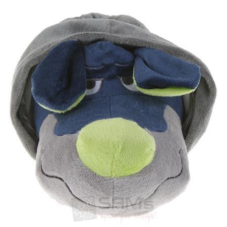 Tierhausschuhe Unisex Hausschuhe Hoodie Hund, Grau Blau Pic:4