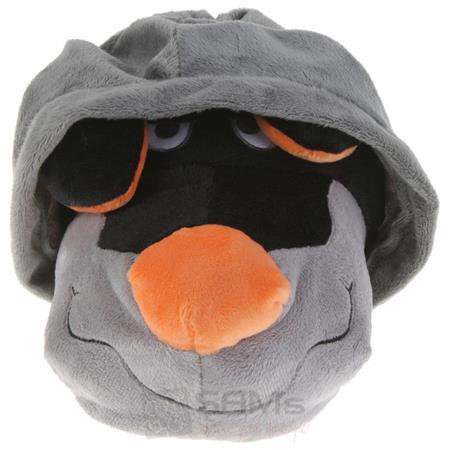 Tierhausschuhe Unisex Hausschuhe Hoodie Hund, Grau Orange Pic:2