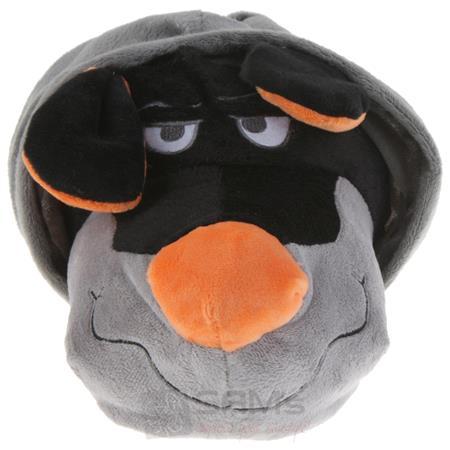 Tierhausschuhe Unisex Hausschuhe Hoodie Hund, Grau Orange Pic:3