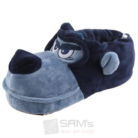 Tierhausschuhe Herren Hausschuhe Hund Grimmig, Blau