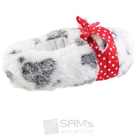 SAMs Damen Tierhausschuhe Katze mit Schleife, Grau Pic:1