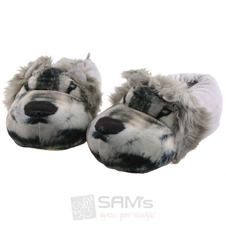 SAMs Unisex Tierhausschuhe Wolf, Grau Pic:2