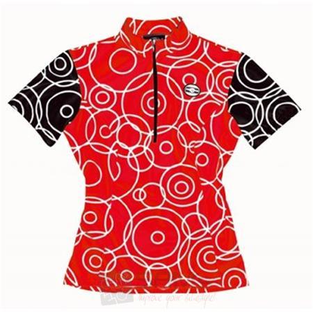 Zoelle Red Bubbles Damen Fahrrad Trikot