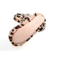 Leopard Tier Hausschuhe Pantoffel Schlappen Slipper Kuscheltier Plüsch Damen Beige 36-41 Pic:1