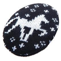 Earbags Fleece Fashion - Strickpferd Schwarz - Medium